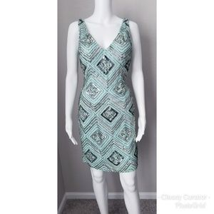 Aidan Mattox mint sequined and beaded dress NWT